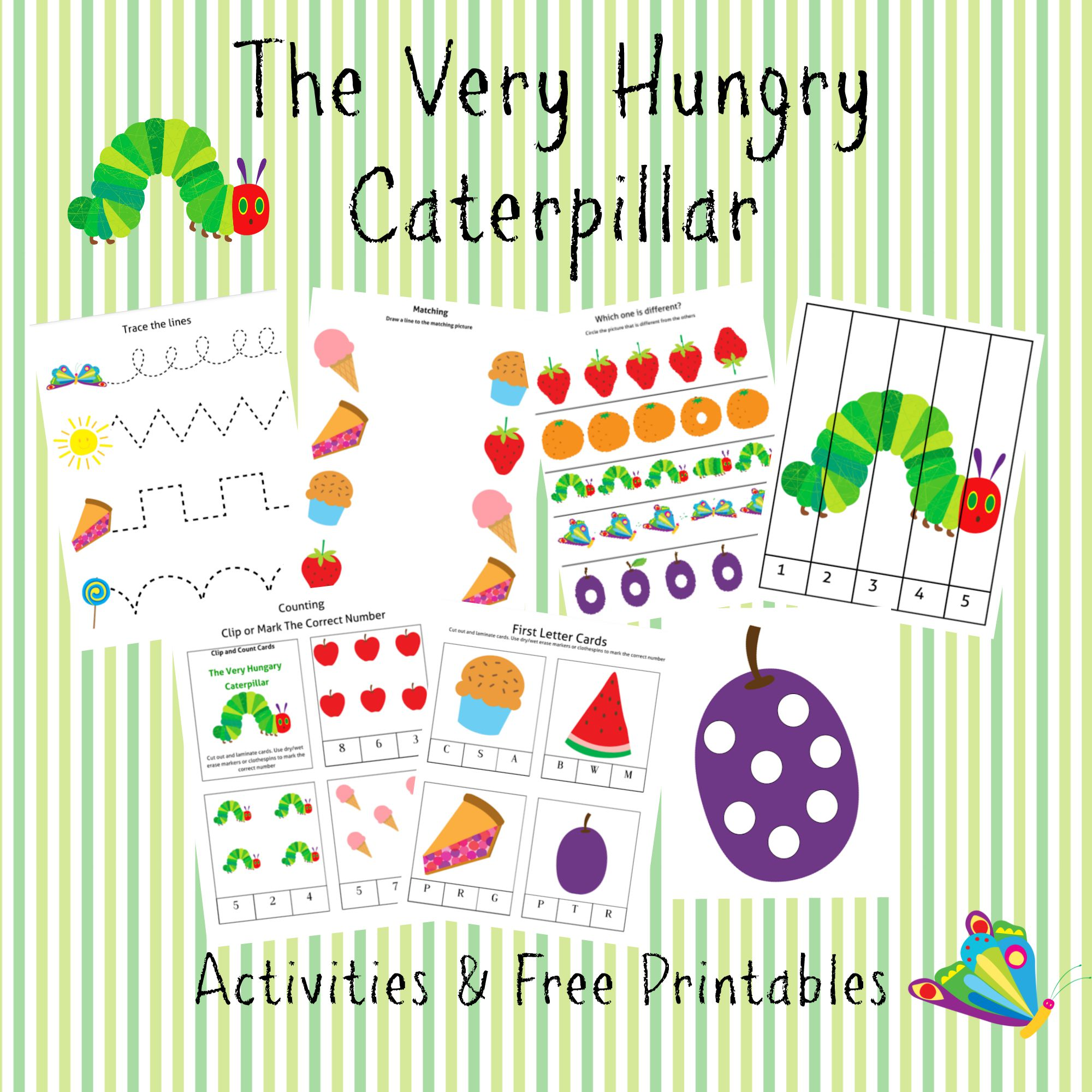 the very hungry caterpillar printable