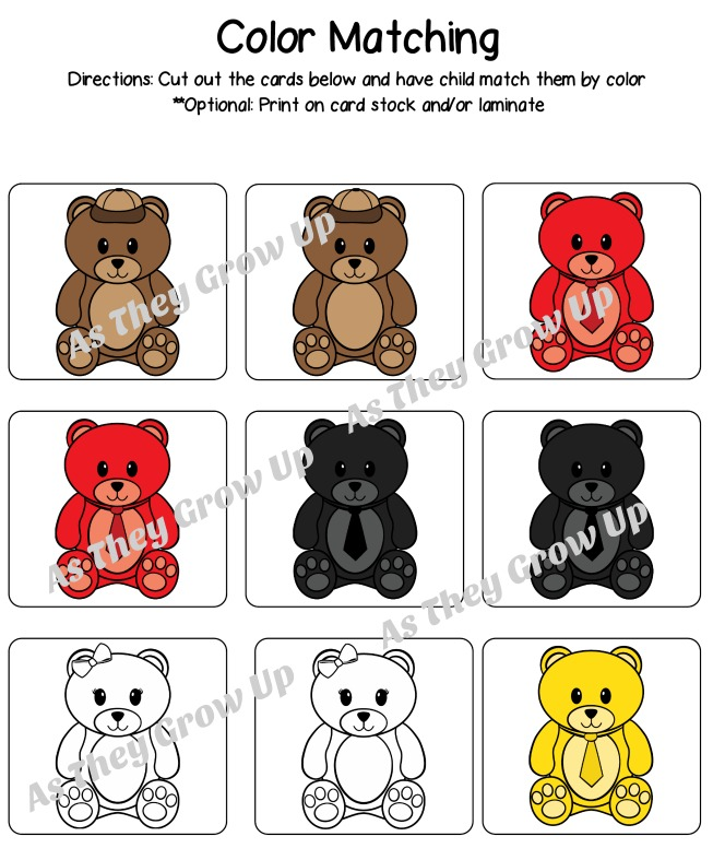 counting bears color match