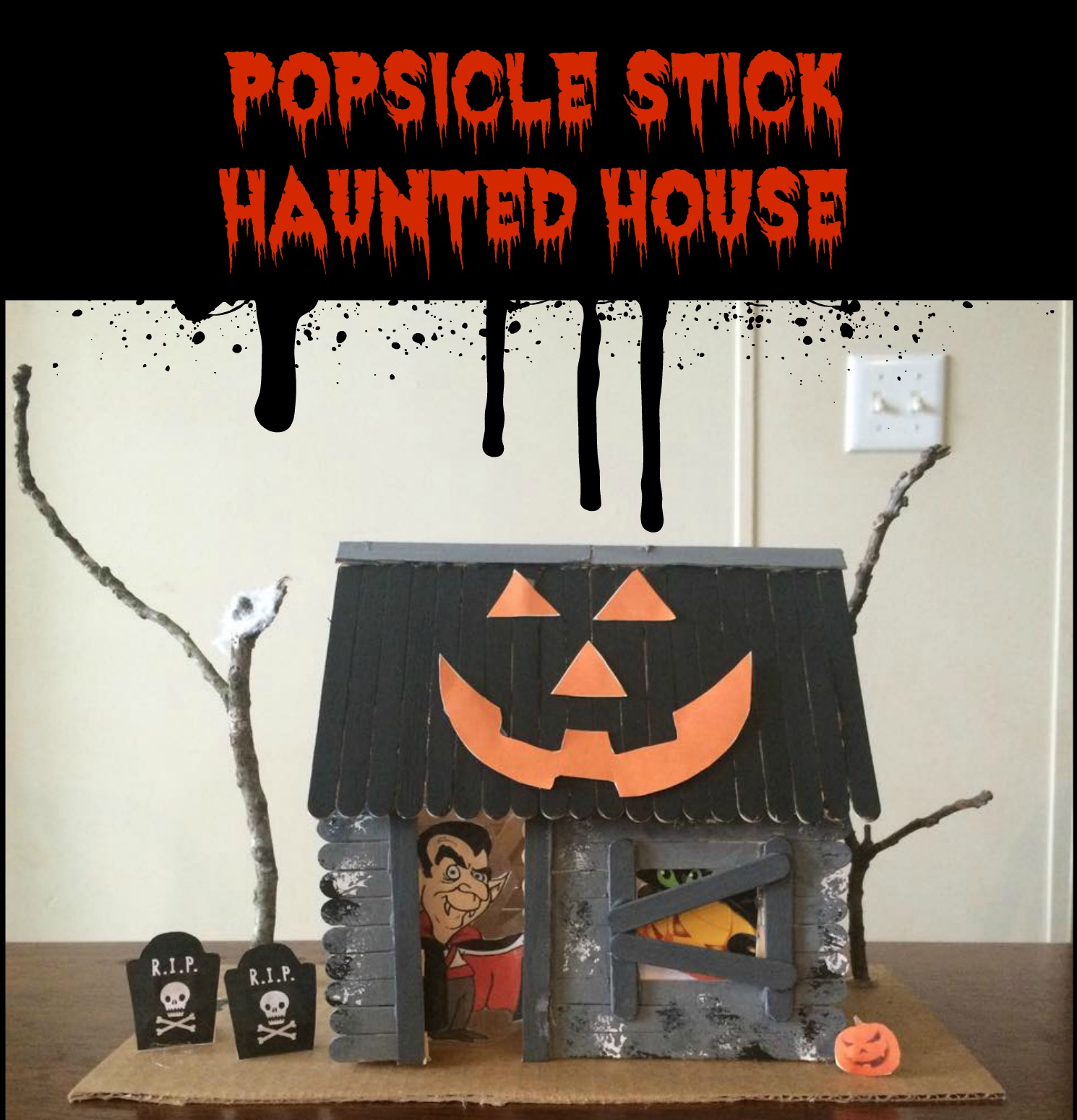 how to make house with popsicle sticks