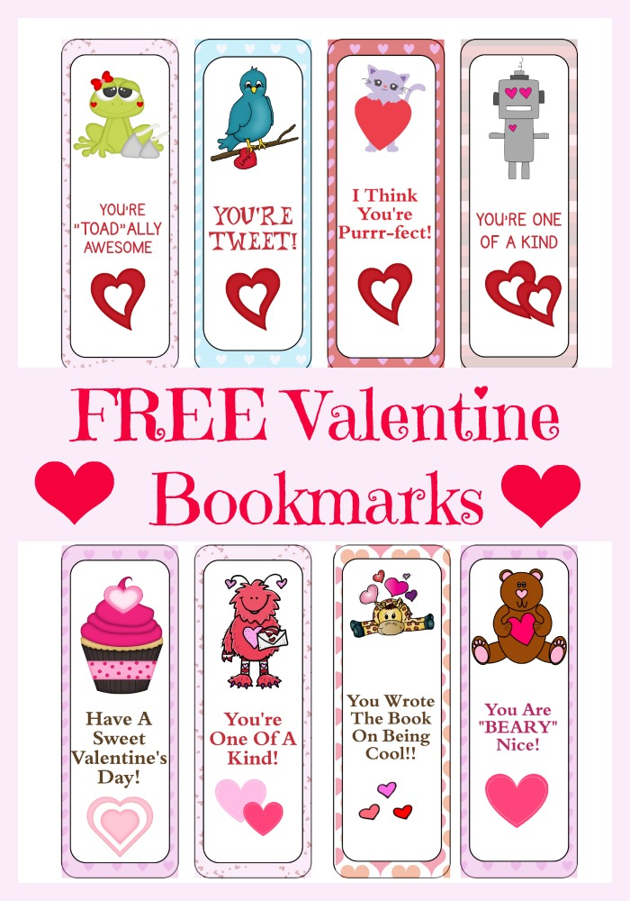 It is an image of Dynamic Printable Valentine Bookmarks