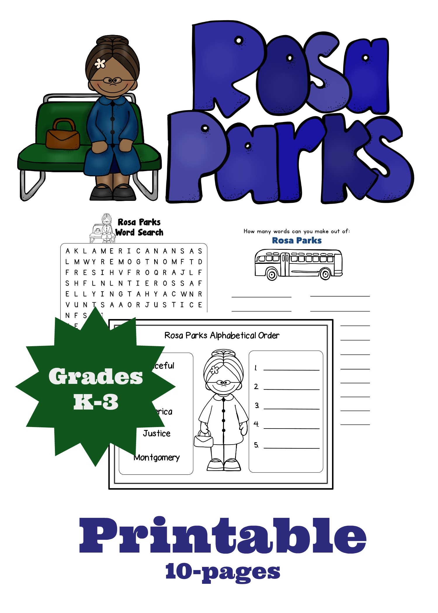 Rosa Parks coloring page Free Printable Coloring Free printable pictures of rosa parks