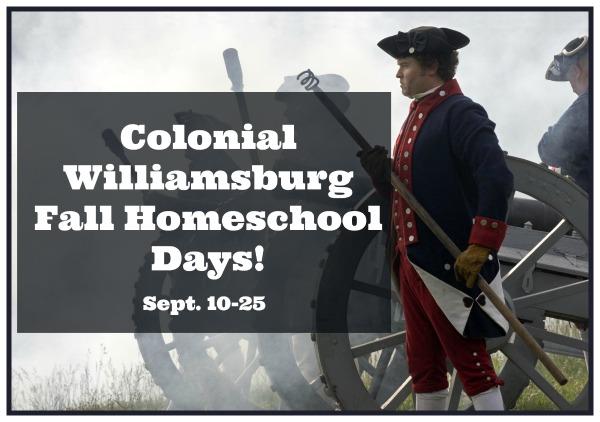 Colonial Williamsburg Homeschool Days