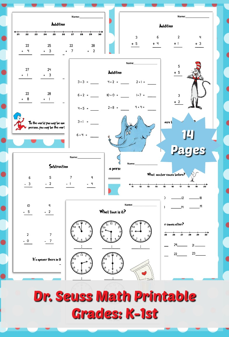 Free Dr Seuss Math Pack